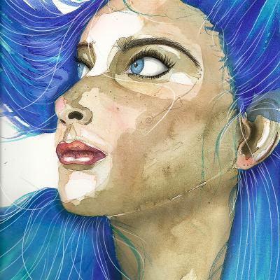 Retrato en azul – A3