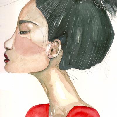 Retrato en Rojo – A3